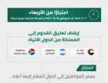 السعودية .. إيقاف تعليق القدوم من 3 دول بينها الإمارات