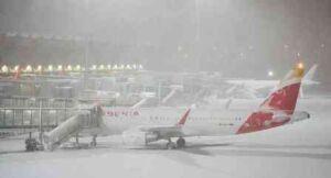 استمرار إغلاق مطار مدريد بعد اجتياح عاصفة فيلومينا للمدينة